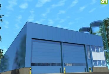 Nieuwbouw bedrijfsruimte met laadkuil te Moerdijk
